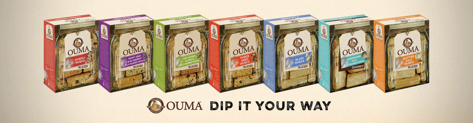 Ouma Rusks, Dip it your way!